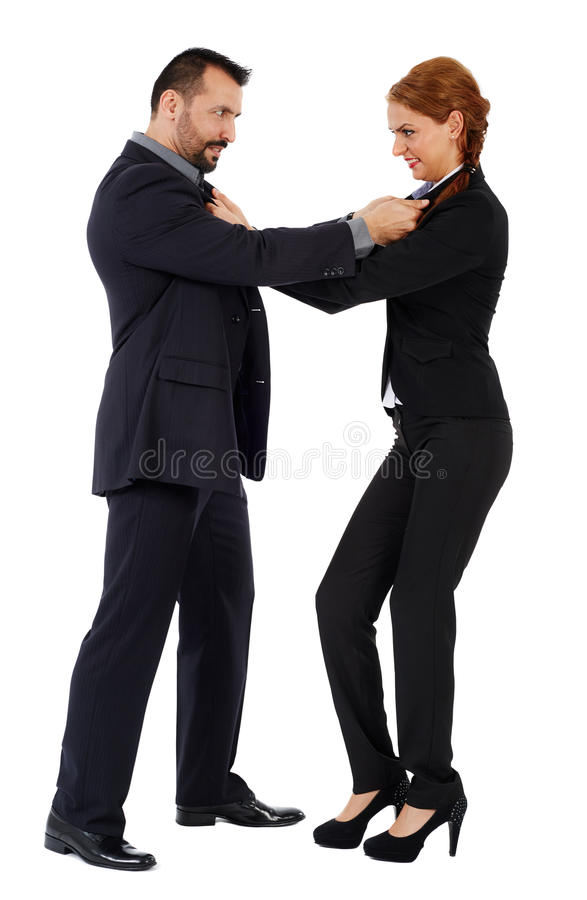 Business fight stock image