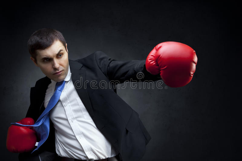Business fighter royalty free stock images