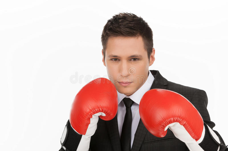 Business fighter. royalty free stock images