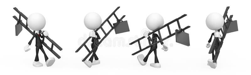 Download Business Figure, Ladder stock illustration. Illustration of career - 19276285
