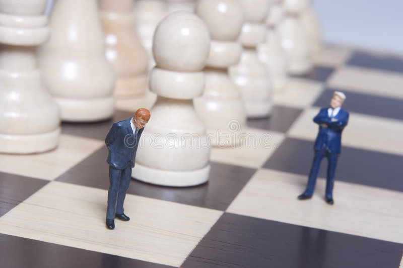 Download Business Figurine And Chess Stock Photo - Image: 2295796