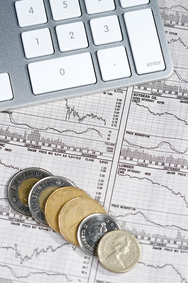 Business Finance. Graphs of a working capitalist royalty free stock images