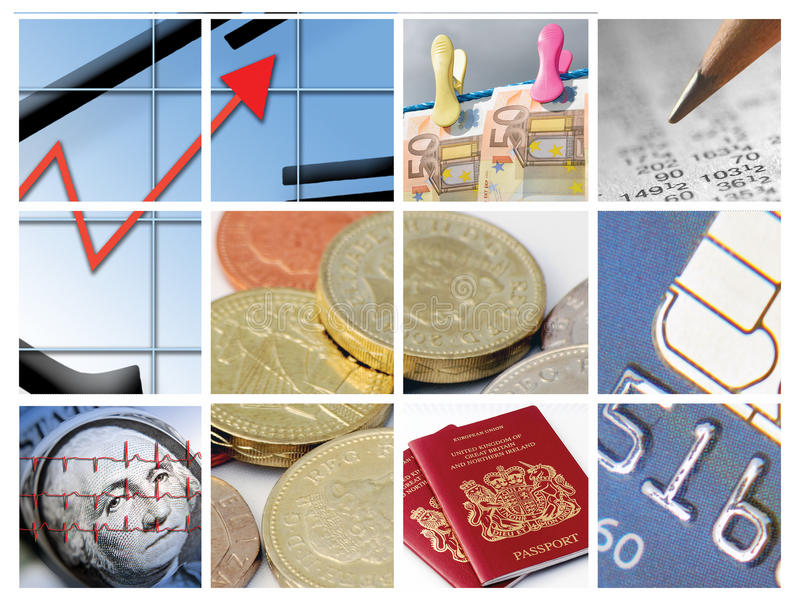 Business and finance. Twelve images relating to business and finance stock photography