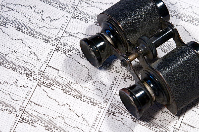 Business Finance. Graphs of a working capitalist royalty free stock photography