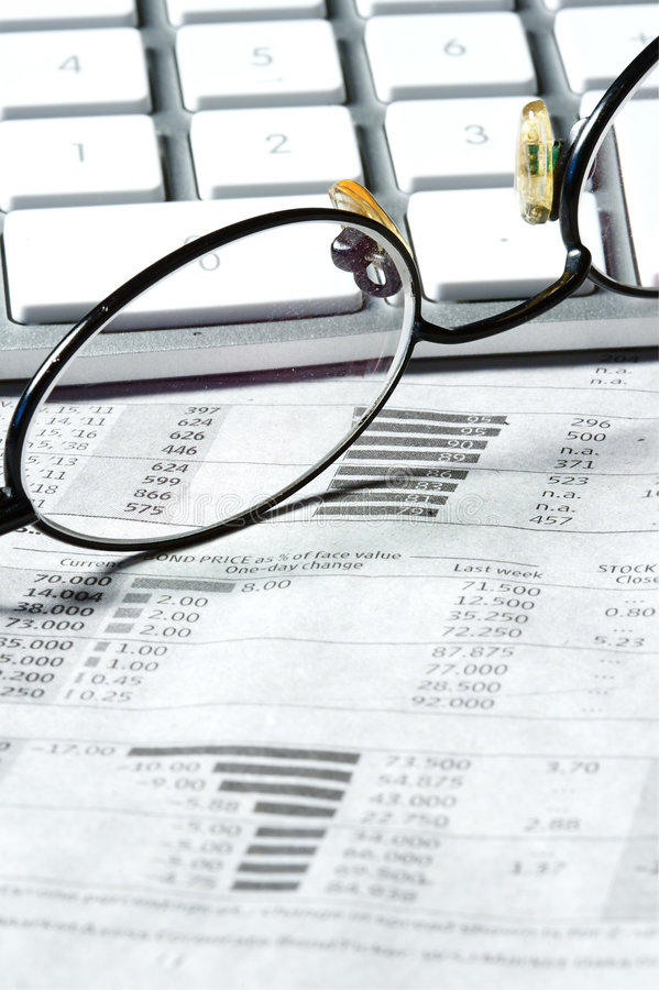Business Finance. Graphs of a working capitalist stock images