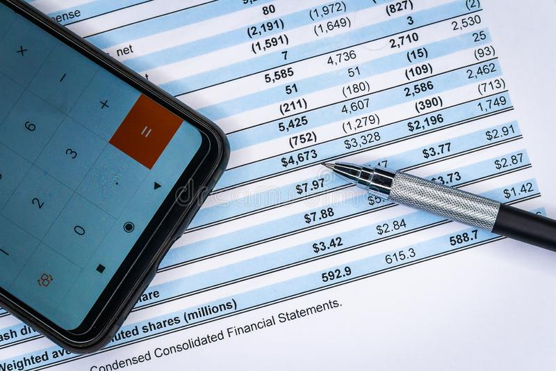 Business composition. Financial analysis - income statement, business plan. Business finance, accounting, statistics and analytic research concept. Financial stock photos