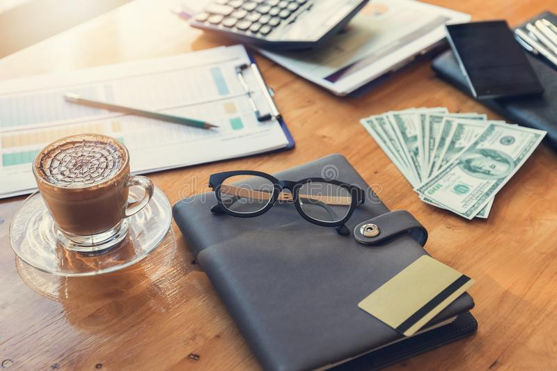 Business and finance concept of office working, royalty free stock photos
