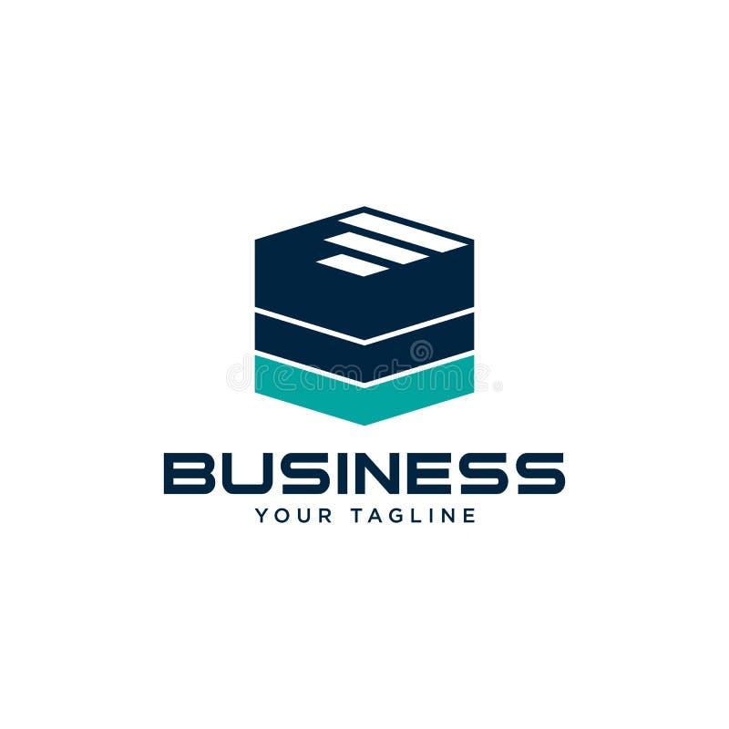Business finance design concept logo template. Business abstract logo symbol. vector logo concept illustration. Abstract vector logo. Vertical shapes sign vector illustration