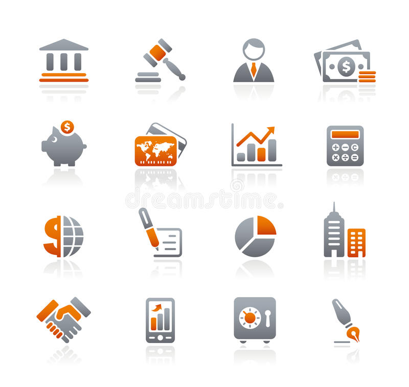 Business & Finance // Graphite Icons Series stock photography