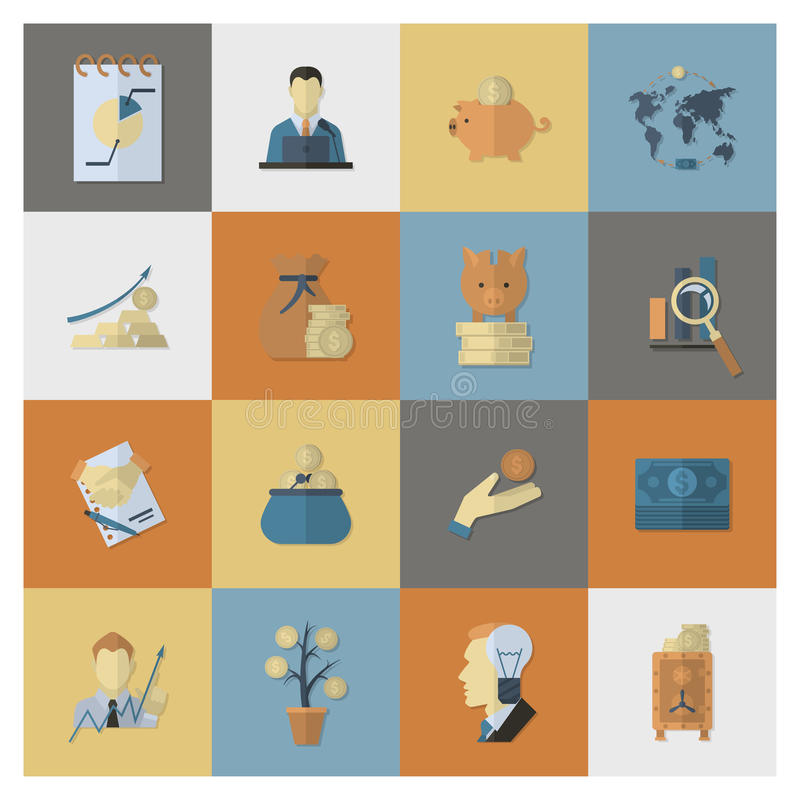 Business and Finance Icon Set. Business and Finance, Flat Icon Set. Simple and Minimalistic Style. Vector vector illustration