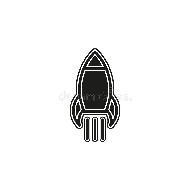 Business Finance Icon. Start Up Rocket Entrepreneur, startup sign royalty free illustration