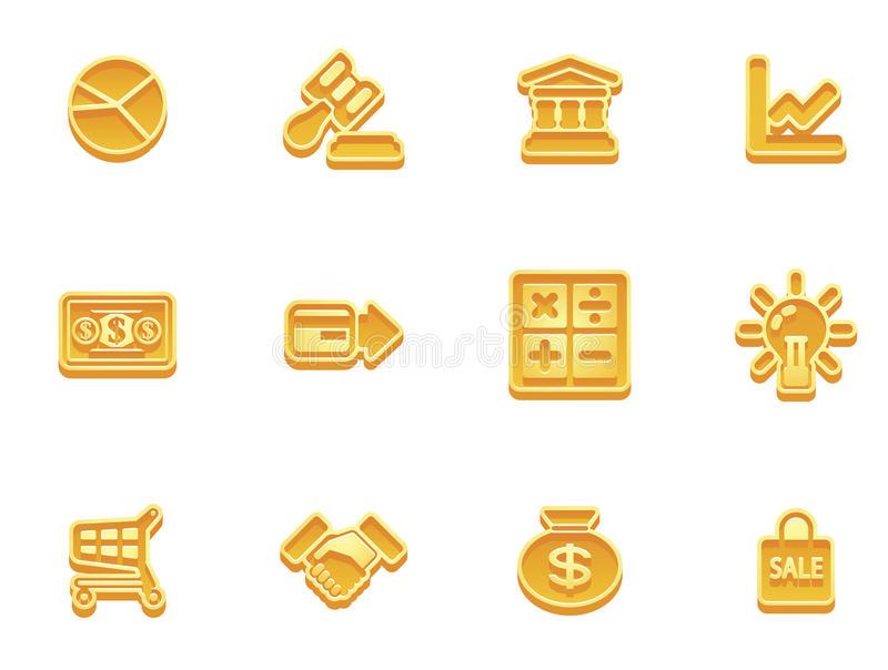 Download Business and finance icons stock vector. Illustration of gavel - 17788210