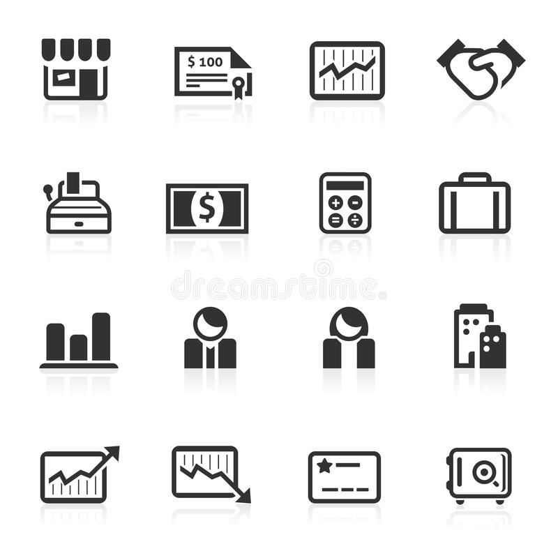 Business & Finance Icons 2 - minimo series royalty free illustration