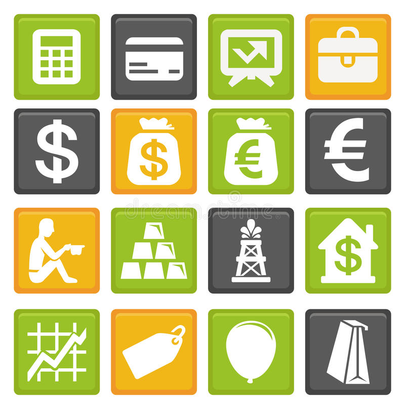 Download Business and finance icons stock vector. Image of collection - 25575731