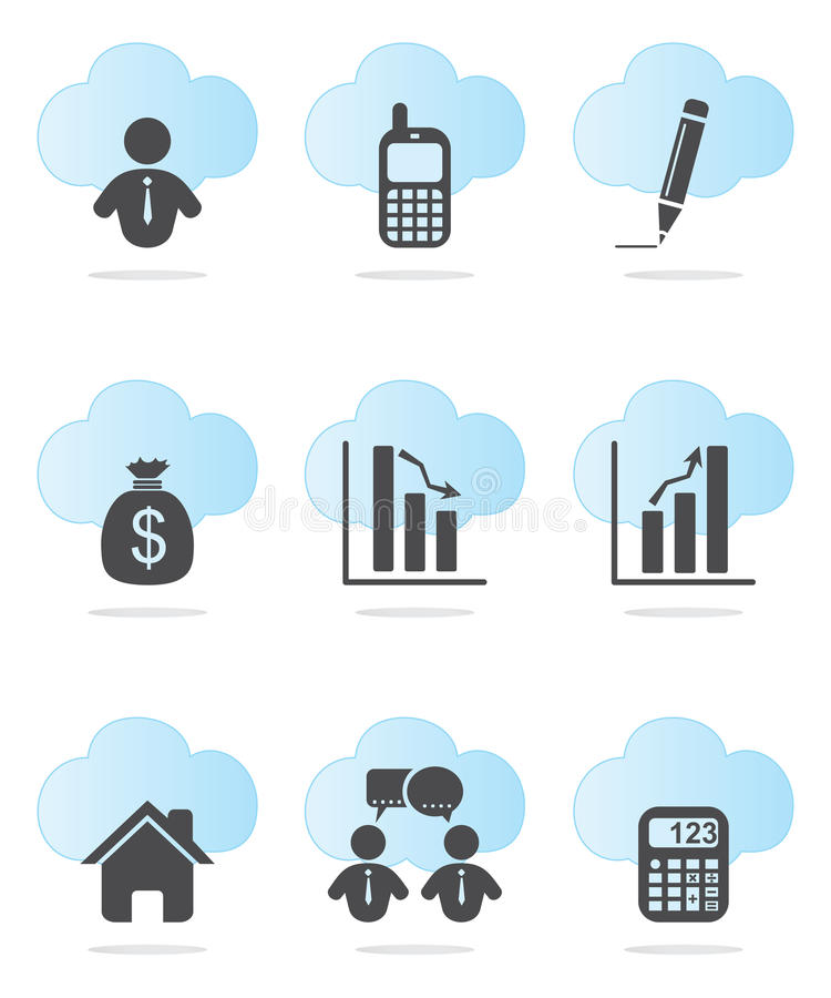 Business and Finance Icons. Set in two colors