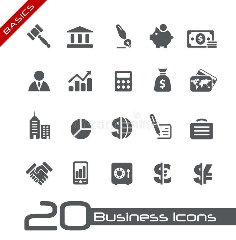Business & Finance Icons // Basics stock illustration