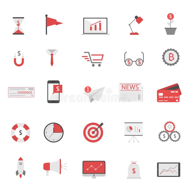 Business finance icons vector illustration