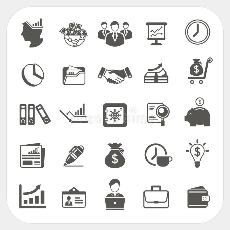 Business, finance icons set. EPS10, Don't use transparency