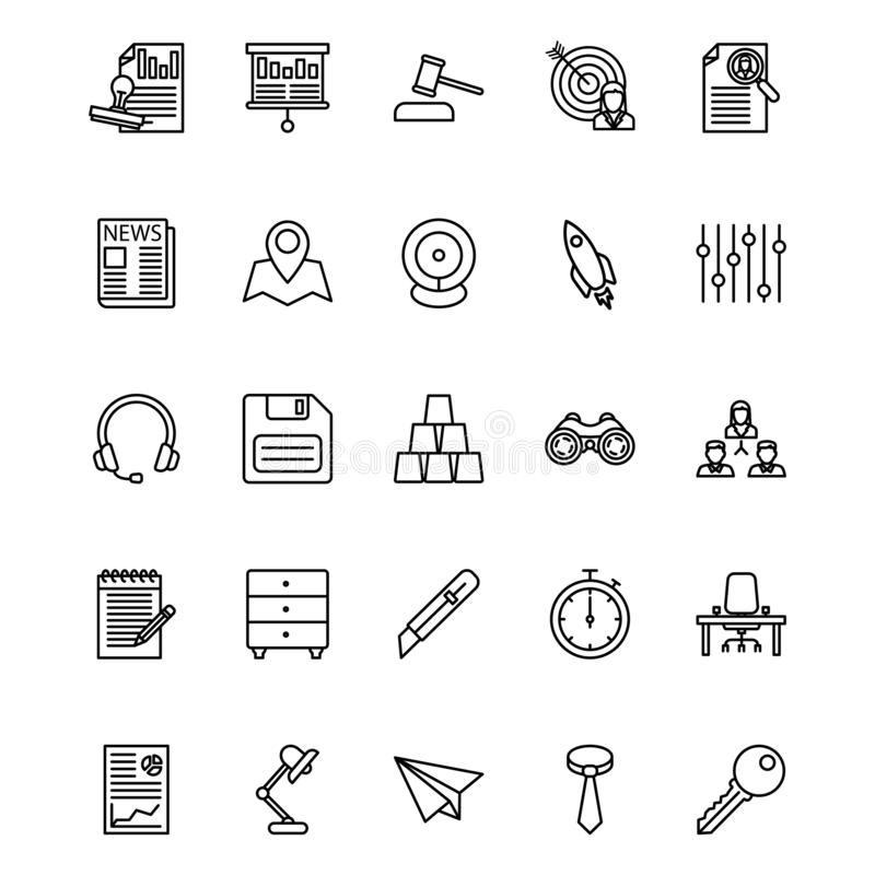 Business and Finance Line Isolated Vector Icons Set that can be easily modified or edited vector illustration