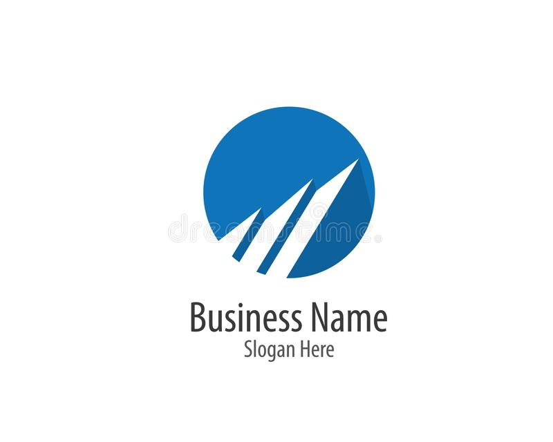 Business finance logo template vector icon stock illustration