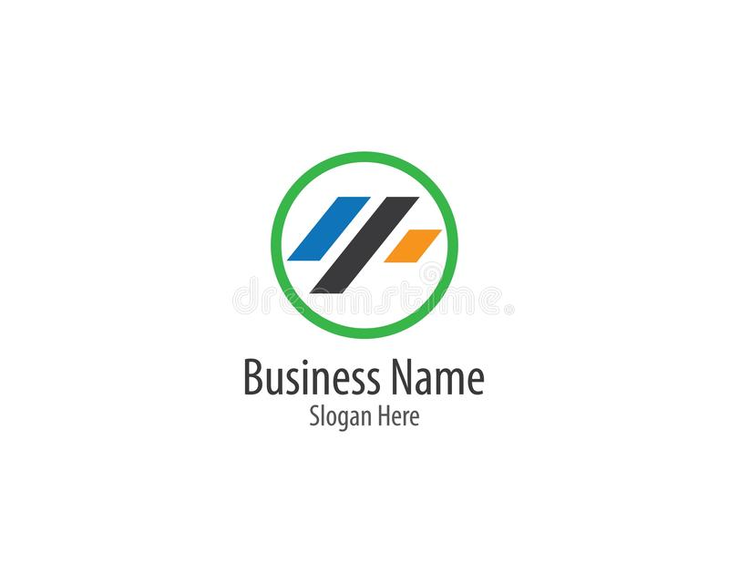 Business finance logo template vector icon royalty free illustration