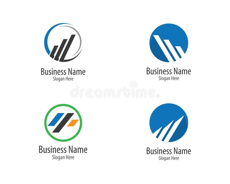 Business finance logo template vector icon. Illustration, technology, abstract, corporate, account, analyze, arrow, bank, broker, cash, chart, colorful, company stock illustration