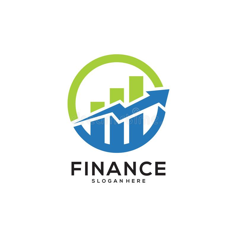 Business Finance Logo template vector icon design. Concept design template royalty free illustration