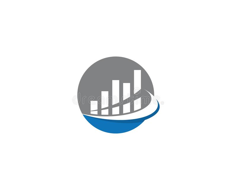 Business Finance Logo. Template vector icon illustration, technology, abstract, corporate, account, analyze, arrow, bank, broker, cash, chart, colorful, company royalty free illustration