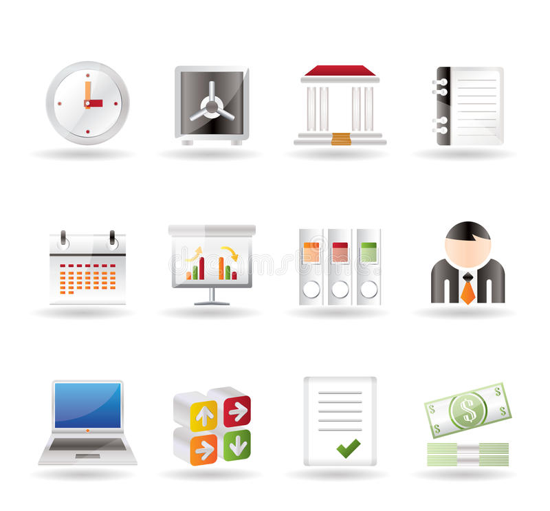 Download Business, Finance And Office Icons Stock Vector - Image: 14962711