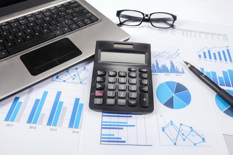 Business finance research 1 royalty free stock images