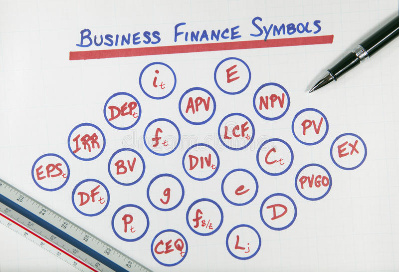 Download Business Finance Symbols Diagram Stock Photo - Image of earnings, margin: 14251934