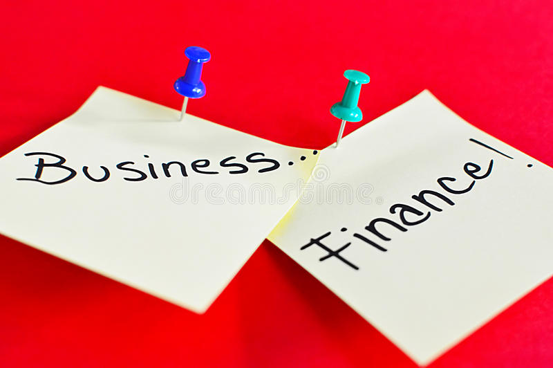 Download Business And Finance Text On Sticky Note Stock Illustration - Image: 39225104
