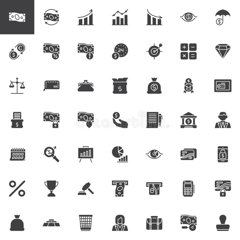 Business and finance vector icons set vector illustration