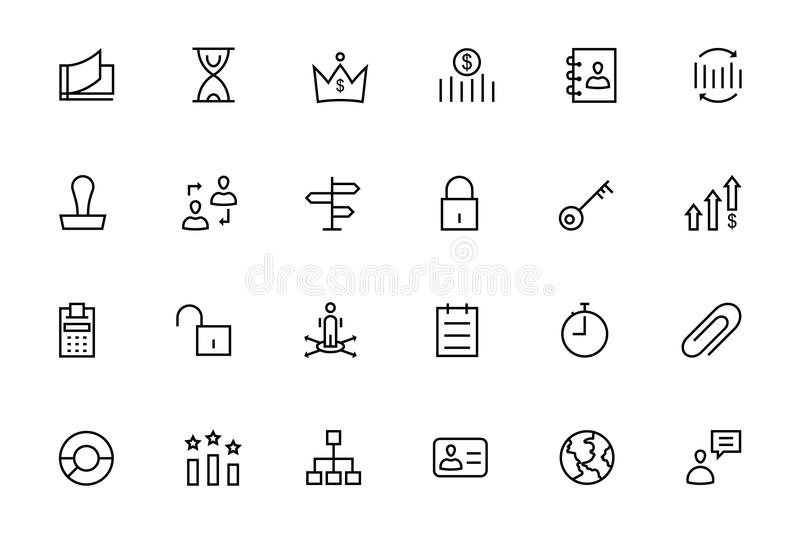 Business and Finance Vector Line Icons 4 royalty free illustration
