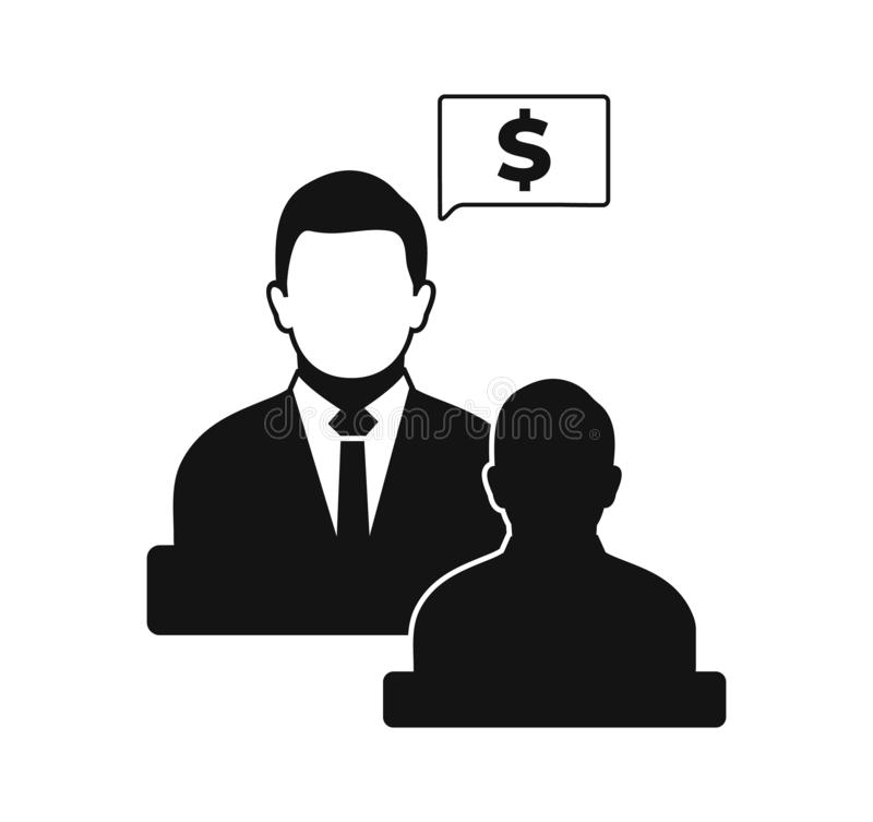 Business and financial advisor icon . Flat style vector EPS royalty free illustration