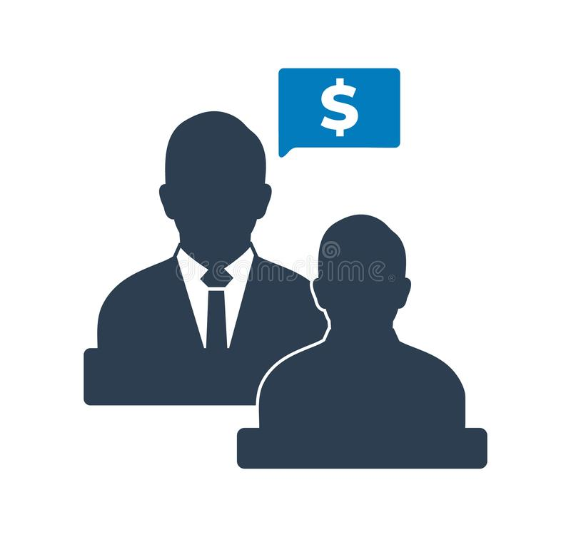 Business and financial advisor icon . Flat style vector EPS stock illustration