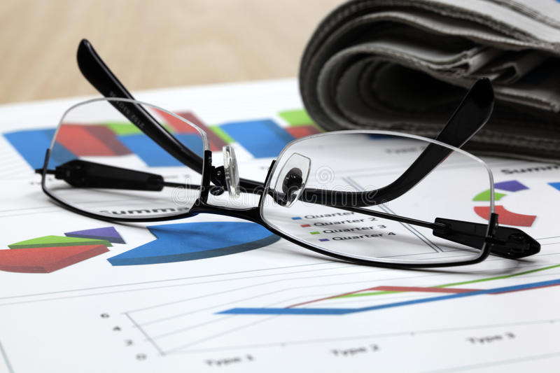 Business of financial analysis. Of workplace stock photography
