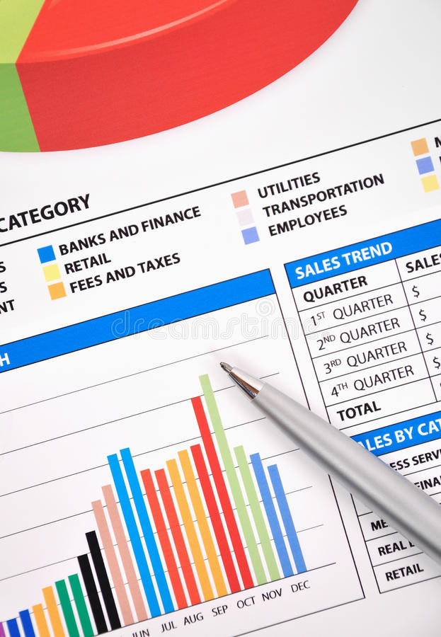 Download Business Financial Chart Of Earnings Stock Photo - Image: 13331122