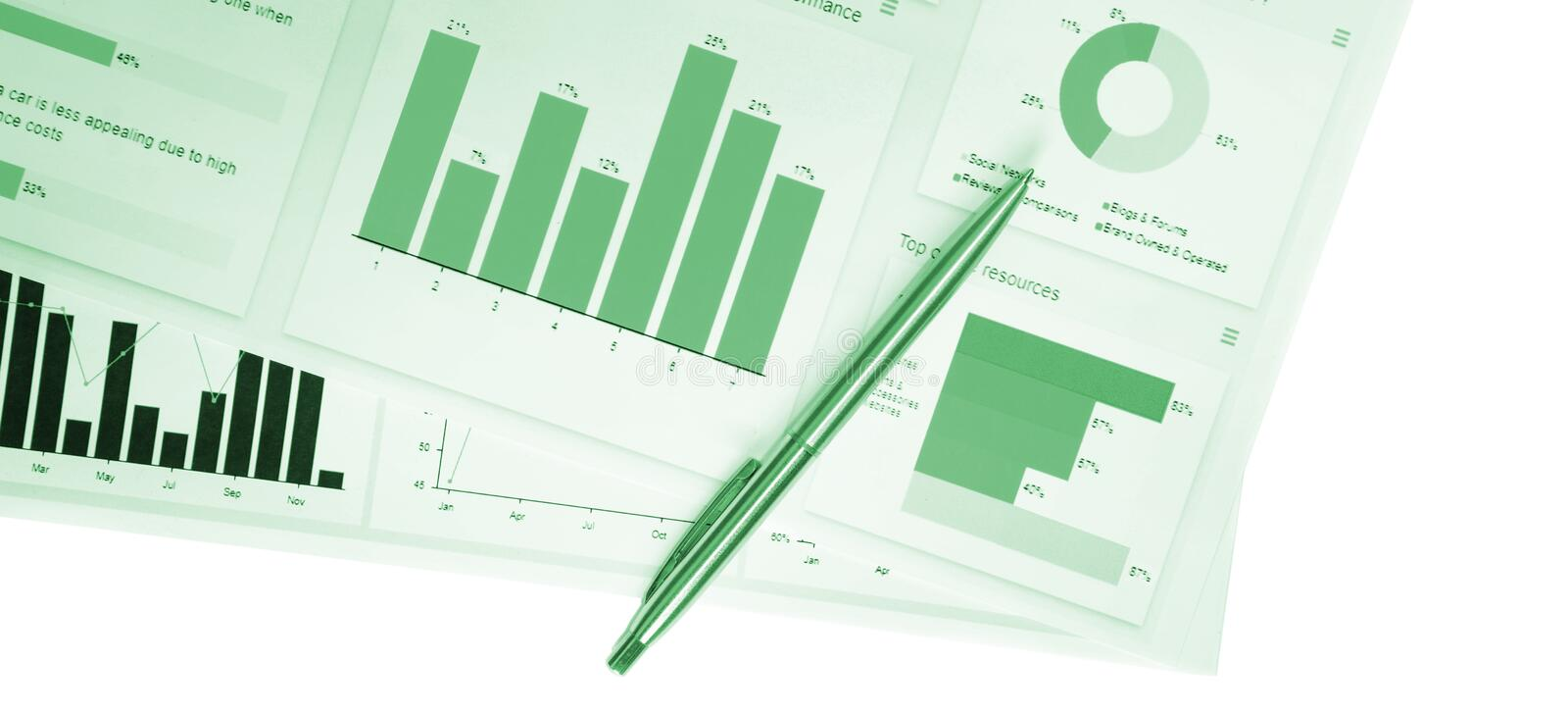 Business financial concept, charts and graphs, market statistics, graphic report, marketing background isolated. Business idea, financial concept, charts and royalty free stock photography