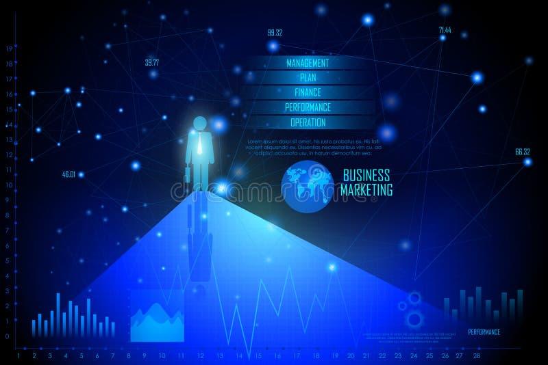Business Financial Graph Chart Diagram vector illustration