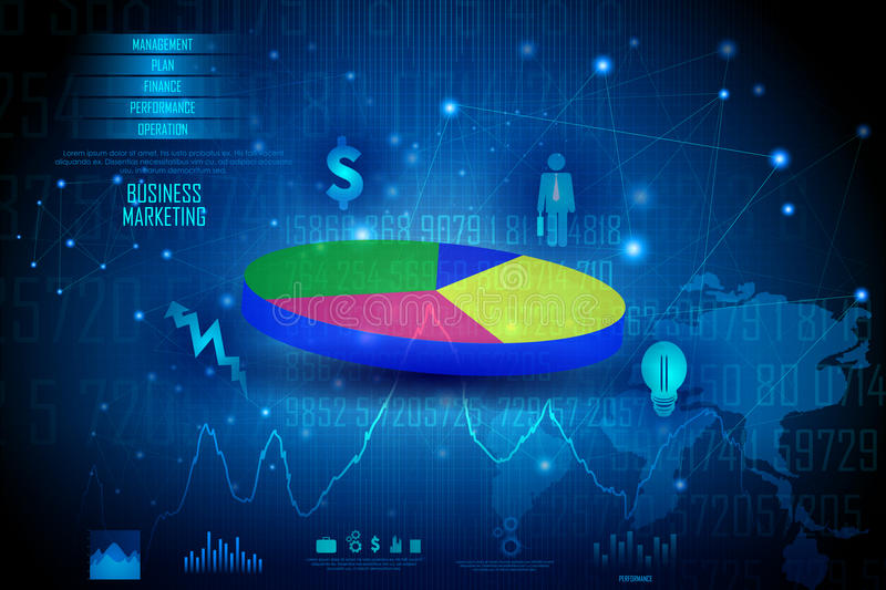 Business Financial Graph Chart Diagram royalty free illustration