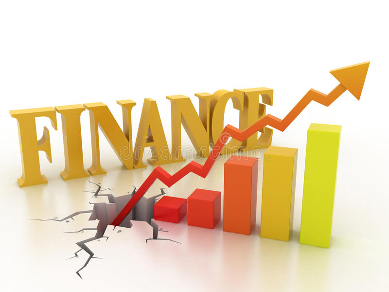 Business financial growth concept. 3d illustration stock illustration