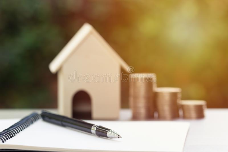 Business and financial property concept for home loan, mortgage, saving and investment stock photography
