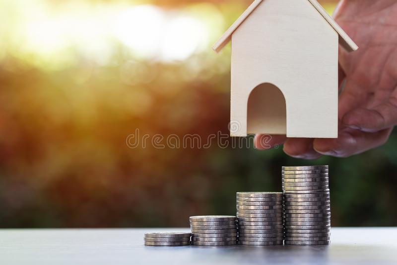 Business and financial property concept for home loan, mortgage, saving and investment stock photo