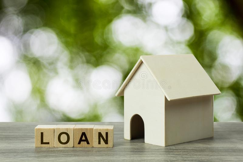 Business and financial property concept for home loan, mortgage, saving and investment stock image