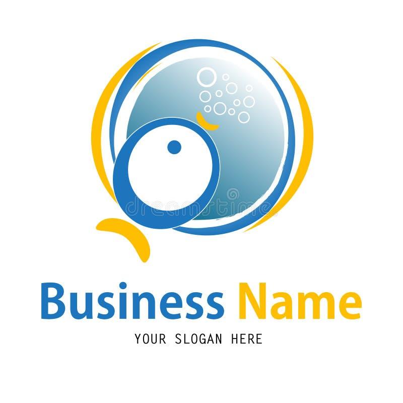 Business fish icon design royalty free illustration