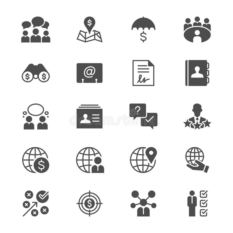 Business flat icons. Clear and sharp. Easy to resize stock illustration