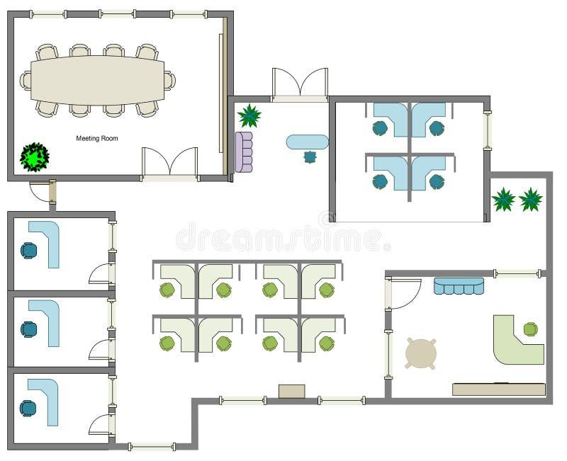 Business Floor Plan Stock Illustration. Illustration Of
