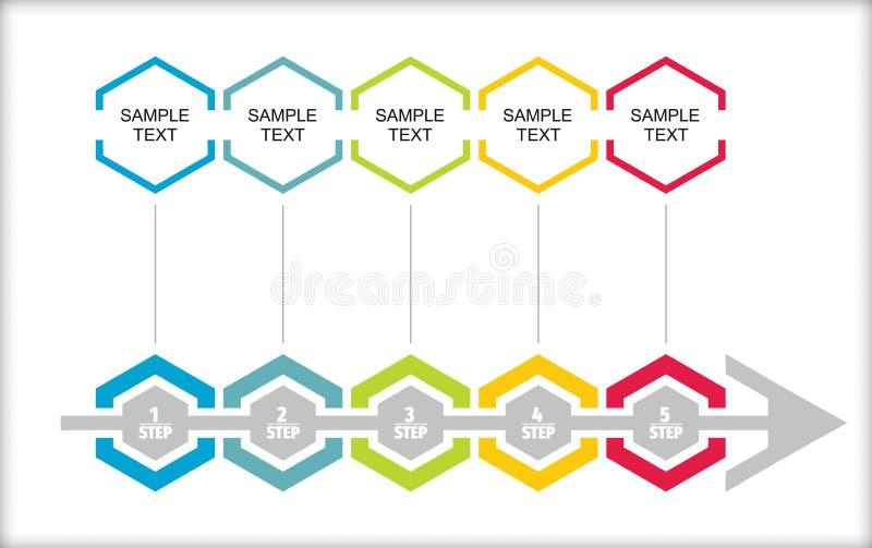 Business flow concept. Business concept - flow chart with copy paste text vector illustration