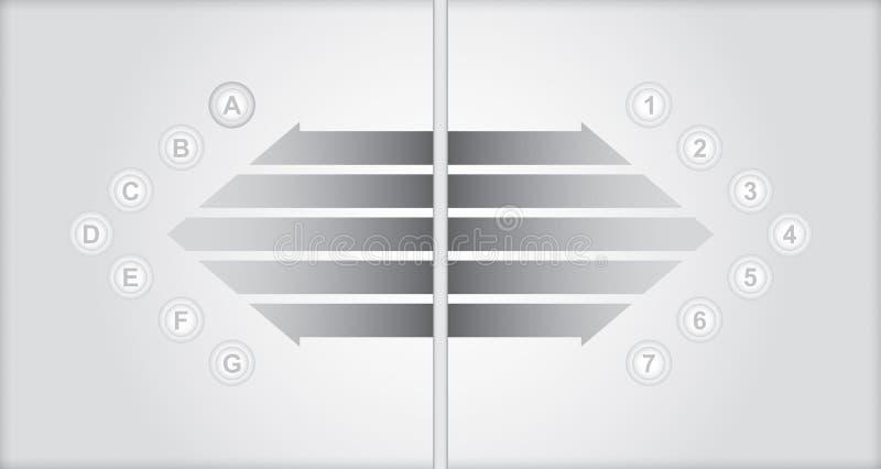 Business flow concept. Business concept - flow chart with copy paste text stock illustration